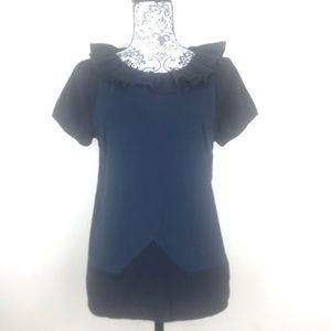 Marc by Marc Jacobs Shirt Ruffle Blue